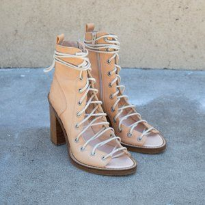 Ann Demeulemeester Lace Up Sandals with Block Heel